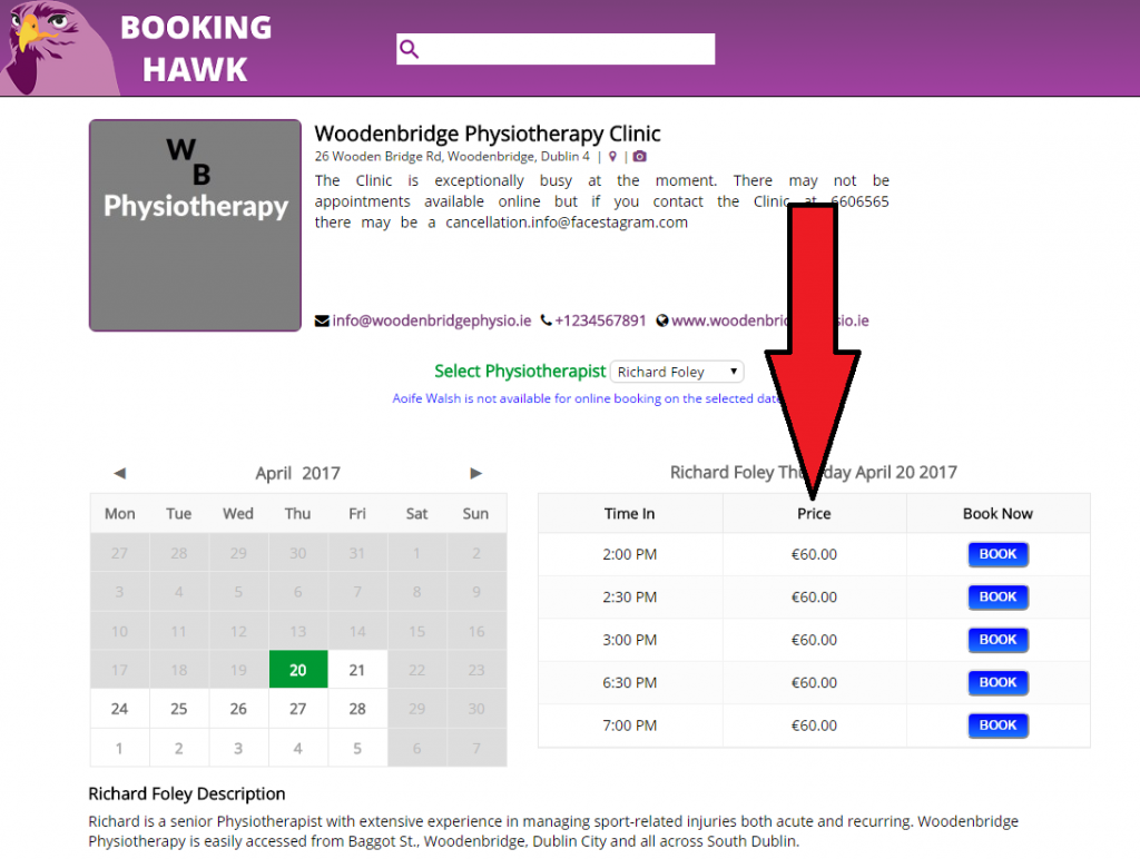 display-price-online-booking-software