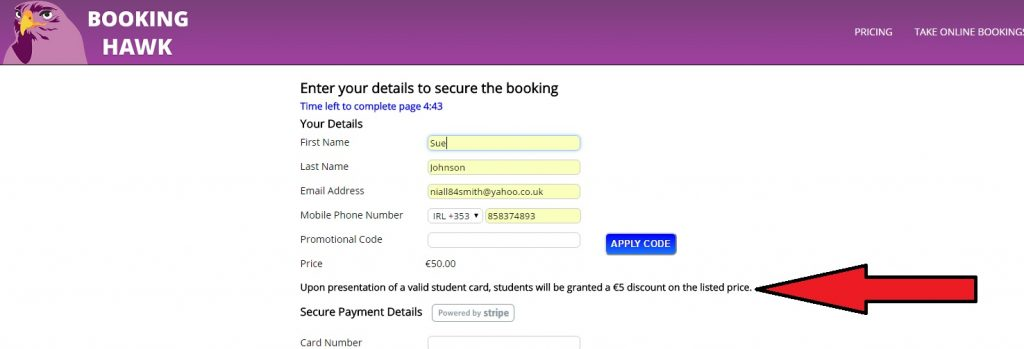 online-booking-system-flexible-pricing
