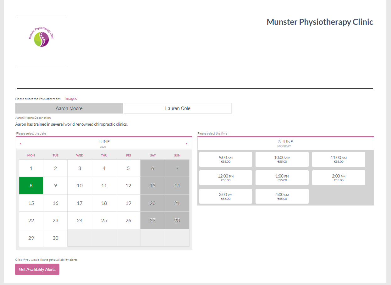 physiotherapy-booking-software